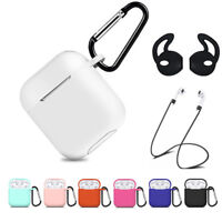 For Apple AirPods 2 1 Charging Case Silicone Cover Accessories Protective Holder
