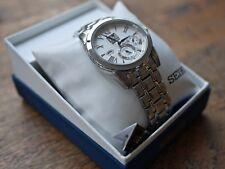 Seiko Da Uomo Sportura Kinetic LE GRAND SPORT GMT Avorio Dial Bracelet Watch SNP065