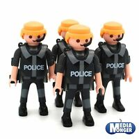 playmobil® Polizei | SEK: 4 Figuren mit Headset | Brustpanzer | Pistolenhalfter