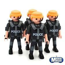 Playmobil ® policía | SEK: 4 personajes con auriculares | pecho tanques | sobaquera