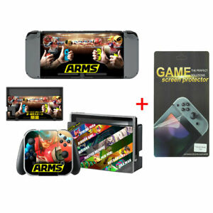 ARMS Vinyl Design Skin Sticker for Nintendo Switch Console w/ Screen Protector