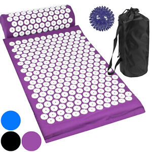 Acupressure Mat with Pillow & Ball Acupuncture Pin Massage Set Neck Pain Relief