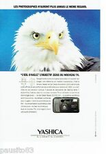 PUBLICITE ADVERTISING 116  1992   Yashica  appareil photo T4 Carl Zeiss Tessar