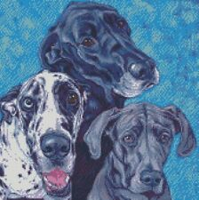 PUNTO Croce Kit 3 GREAT DANE DOG