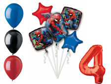 Spider-Man Balloon Bouquet 4th Birthday Party Supplies Decorations Spiderman