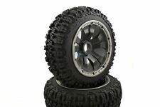 Pioneer Buggy Wheels Black Poison Rims Front Pair 170x60 Fits HPI Baja KM 1/5