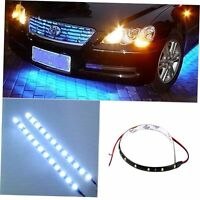 2XBlue 30cm 12V 15 LEDs Car Auto Motorcycle Waterproof Strip Lamp Flexible Light