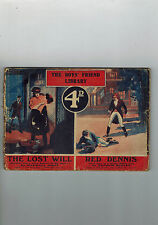 BOY'S FRIEND LIBRARY No. 464 1920s The Lost Will - Maxwell Scott