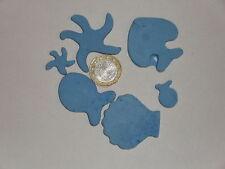 100 grammes de mosaïque plâtre bleu (forme de la mer)