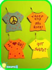 """Troop T-Shirt """"Girl Scout"""" SWAPS  Craft Kit  by Swaps4Less.com"""