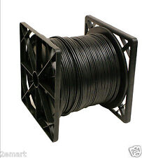 RG59 Power Siamese Cable, 500 ft. Spool,Black Color.ETL Listed