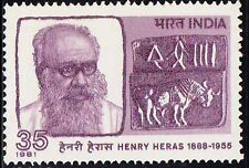 India 1981 MNH, Henry Heras, Spanish Jesuit priest, Archaeologist Historian (N3)