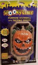 Halloween Pumpkin Spooky Doorbell Spooky Voice Sound Effects Light Up Eyes
