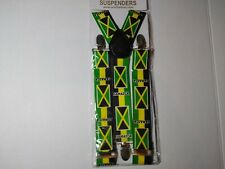 Jamaica Flag Fashion Suspenders Jamaican Flags Mini Banner Design for Cloth Gift