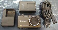 Casio EXILIM EX-FC100 9.1MP Digital Camera w/ Burst Mode - Black *VERY GOOD*