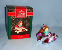 1992 Hallmark Keepsake DAUGHTER Christmas Tree Ornament Squirrel in Airplane