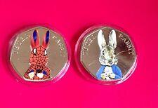 beatrix potter 50p Uncirculated Coin peter rabbit 2016 Coloured