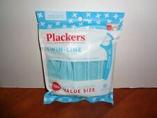 PLACKERS Twin-Line Dental Flossers Cool Mint 150 Count Value Pack Resealable Bag