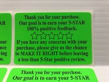 250 Ebay Amazon Etsy Thank You For Your Purchase Stickers 2 x 3 Label Labels
