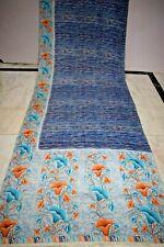 Indian Amazing Print Saree Crepe Silk Soft Craft Making Arts Dress Sari Fabric