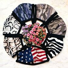 Face Mask Cotton Double Layer Fashion Print Mask Washable Reusable Unisex Adult