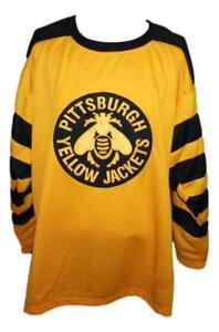 Any Name Number Size Pittsburgh Yellow Jackets Custom Retro Hockey Jersey