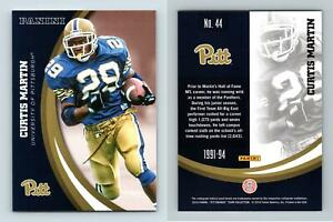 Curtis Martin #44 Pittsburgh Panthers Collegiate 2016 Panini Trading Card
