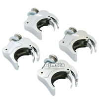 4pcs 39mm Quick Release Windshield Clamps Forks For Harley Sportster Dyna