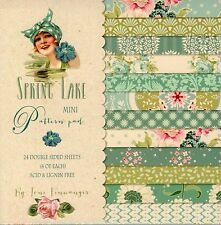 SPRING LAKE MINI PAPER PAD, 24 DOUBLE SIDED SHEETS FOR CARD MAKING, BRAND NEW