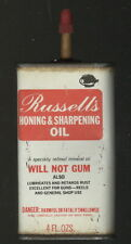1960s Russell'S Honing & Sharpening Oil Can, Fayetteville, Ar. For Guns, Too
