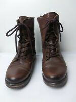 Steve Madden Womens Brown Leather Fame Combat Ankle Boots Size 7.5 M