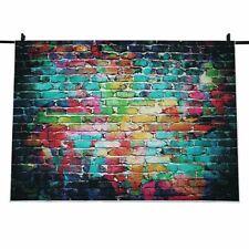 7x5FT Graffiti Brick Wall Photo Backdrop Photography Background Studio Prop I3H3