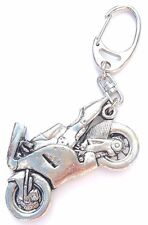 Racing Bike Handcrafted from Solid Pewter In the UK Key Ring