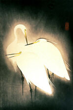 Repro Japanese Print 'Three Egrets'
