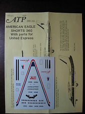 1/144 ATP DECALS SHORTS 360 AMERICAN EAGLE / UNITED EXPRESS   DECALCOMANIE