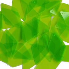 Lime Green Transparent Sequins Long Diamond See-Thru 1.75 inch Couture Paillette