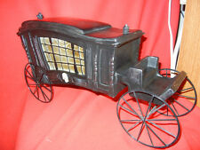 OLD STYLE FUNERAL HEARSE CARRIAGE - HALLOWEEN DISPLAY PROP - LARGE - AWESOME!