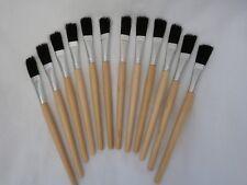 Flux or Glue Brush 12mm Wide Bristle Head Pack of 12 (99.834)