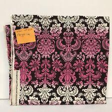 "JoAnn Fabric Neapolitan Brown White Pink Ornate Filigree Floral 44"" X 1.5 yards"