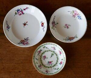 3 sous-tasses porcelaine Sèvres Vieux Paris Marie-Antoinette Louis XVI 18è