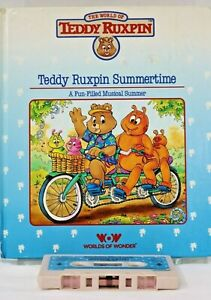 """Teddy Ruxpin Book and Tape """"Summertime"""" World of Wonder 1985"""