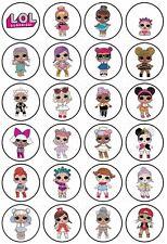 Eßbar Lol Doll Puppe Deko NEU Muffinaufleger Tortenaufleger Tortendeko DVD
