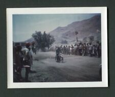 Motocross Motorcycle Racing at Track Vintage Polaroid Color Photo 451158