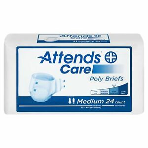 Attends Care Incontinence Brief M Poly Briefs BR20 Heavy 24 Ct