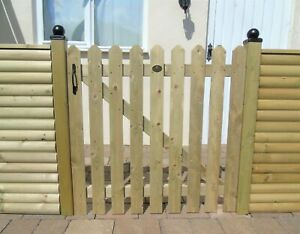 Wicket Picket Garden Wood Timber 91.5cm 3ft Gate Treated Planed Timber 4 Designs