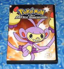 Pokemon DP Battle Dimension Volume 3 DVD Disc with Case Excellent Tested Viz