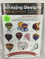 """Amazing Designs Machine Embroidery Hot Air Balloon I 10 Designs 3.5"""" Disk AD2012"""