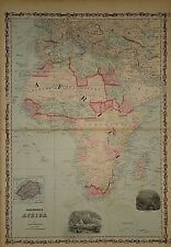 Vintage 1862 AFRICA - ARABIA MAP Old Antique Original Atlas Map 041418