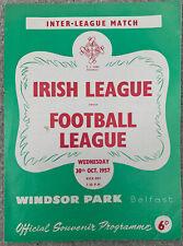 More details for northern ireland irish league v football league 30/10/1957