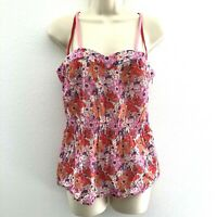 Marc Jacobs women's sz 6 top cotton floral sleeveless side zip lightweight